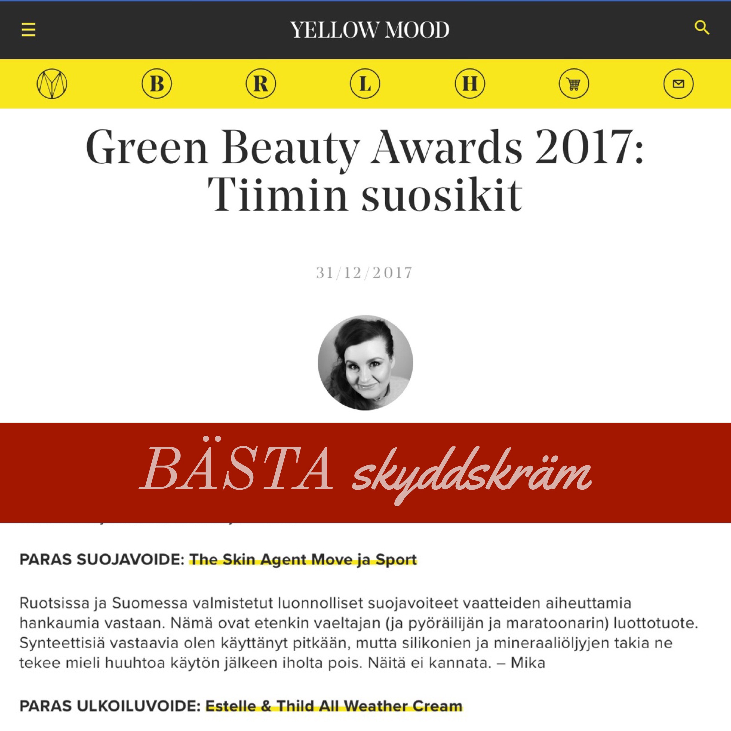 Yellow Mood Green Beauty Award